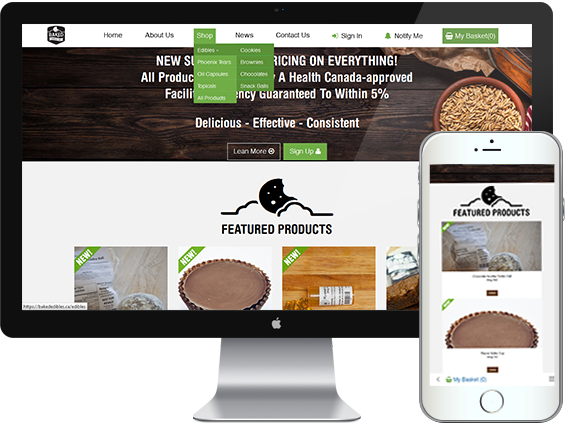 mmj cannabis ecommerce website design vancouver